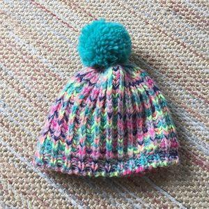 Carter's Pom Pom Crochet Winter Beanie 2-4T